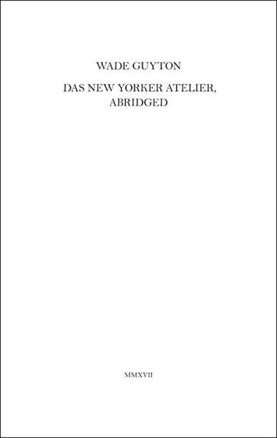 Wade Guyton: Das New Yorker Atelier, Abridged by Wade Guyton