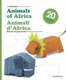 3D Paper Craft Animals of Africa by Patrick Pasques