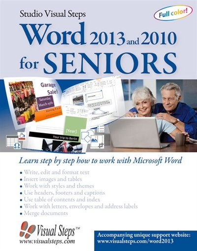 Word 2013 And 2010 For Seniors: Learn Step By Step How To Work With  Microsoft Word