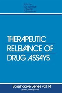 Therapeutic Relevance Of Drug Assays by F.a. De Wolff