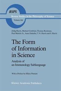 The Form of Information in Science: Analysis of an Immunology Sublanguage