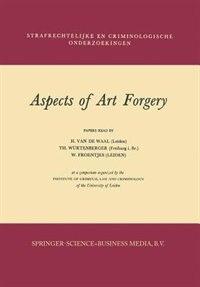 Aspects of Art Forgery by H. van de Waal