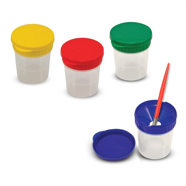Spill-Proof Paint Cups - Set Of 4