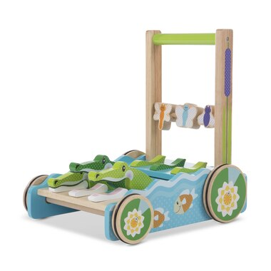 Melissa and Doug Baby Stand and Push Walker First Play Chomp and Clack Alligator