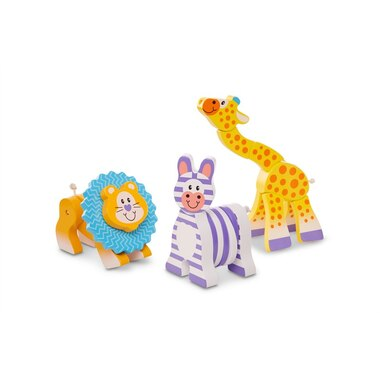 Melissa and Doug® First Play Wooden Grasping Toys Safari