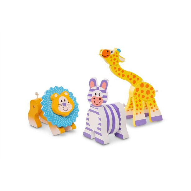 Melissa and Doug First Play Wooden Grasping Toys - Safari