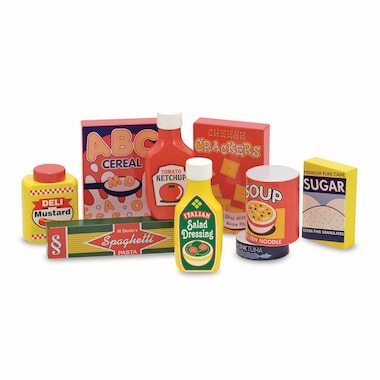 Wooden Pantry Products Set