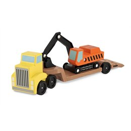 Trailer & Excavator Wooden Vehicles Playset