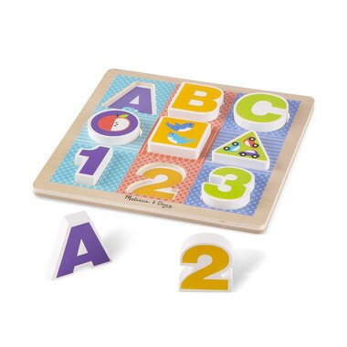 Melissa and Doug Puzzle First Play Wooden ABC-123 Chunky