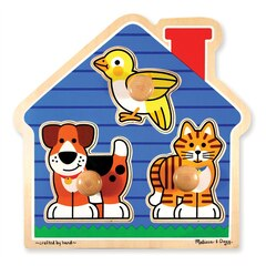 Melissa & Doug House Pets Large Peg Puzzle