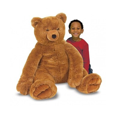 JUMBO BROWN TEDDY BEAR - PLUSH
