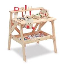 Melissa & Doug Ensemble de jeu de construction d'établi pour projet en bois massif
