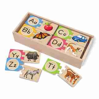 Melissa & Doug Self- Correcting Alphabet Letter Puzzles