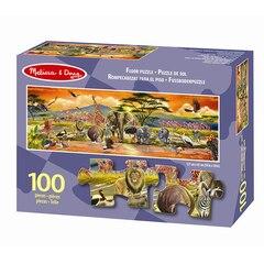 Melissa & Doug Safari Floor Puzzle 100 Pieces