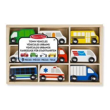 Melissa & Doug® Wooden Vehicle Set Town