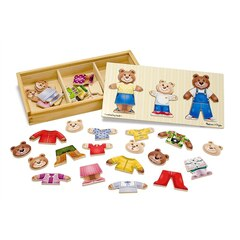 Wooden Bear Family Dress-Up Puzzle