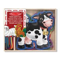 Wooden Panels & Laces - Farm Animals