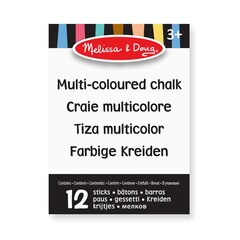 MULTICOLORED CHALK, 12PC