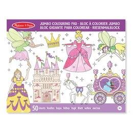 Jumbo Colouring Pad - Princess & Fairy