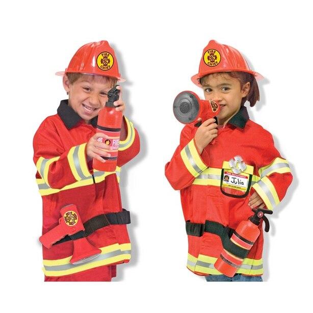 Melissa & Doug Costume De Chef Des Pompiers (6 pcs)