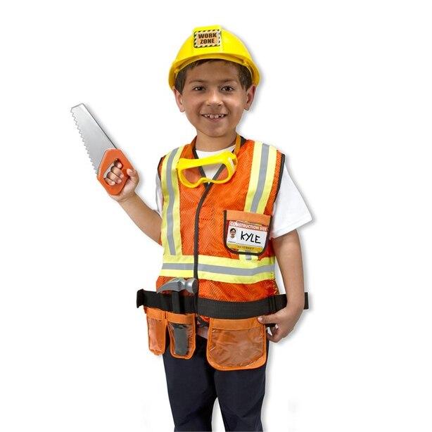 Melissa & Doug Role Play  Costume Set Construction Worker