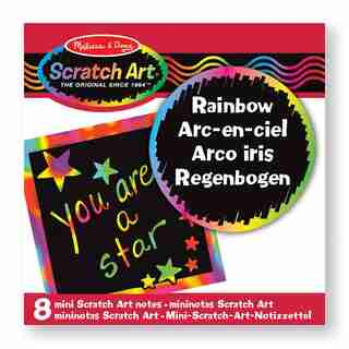 Melissa & Doug Mini-Notes Scratch Art : Arc-En-Ciel (8 pcs)