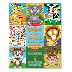Make-a-Face Sticker Pad - Crazy Animals