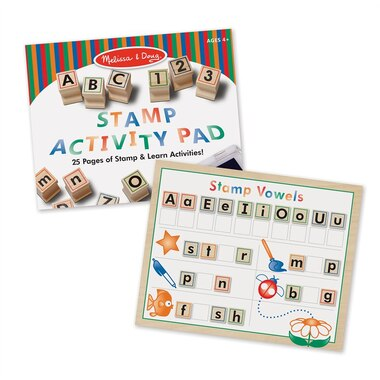 Melissa and Doug® Activity Set Wooden ABC Stamps
