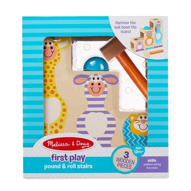 Melissa and Doug Baby Toy First Play Pound and Roll Stairs