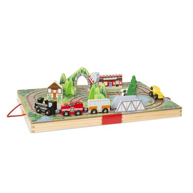 Melissa and Doug Take-Along Tabletop Vehicle Set Railroad