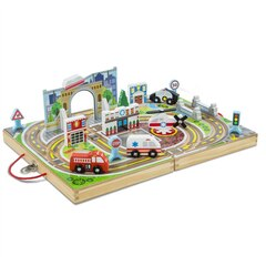 Melissa and Doug Take-Along Tabletop Vehicle Set Town