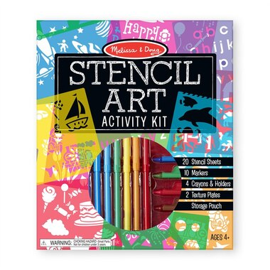 Melissa and Doug® Customizable Stencil Activity Set with 12 Stencils and 170 Designs