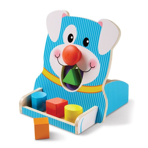 Melissa and Doug Colourful Shape Sorter Toy Spin and Feed