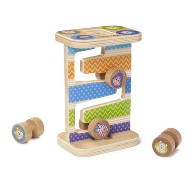 Melissa and Doug Zig-Zag Tower First Play Wooden Safari