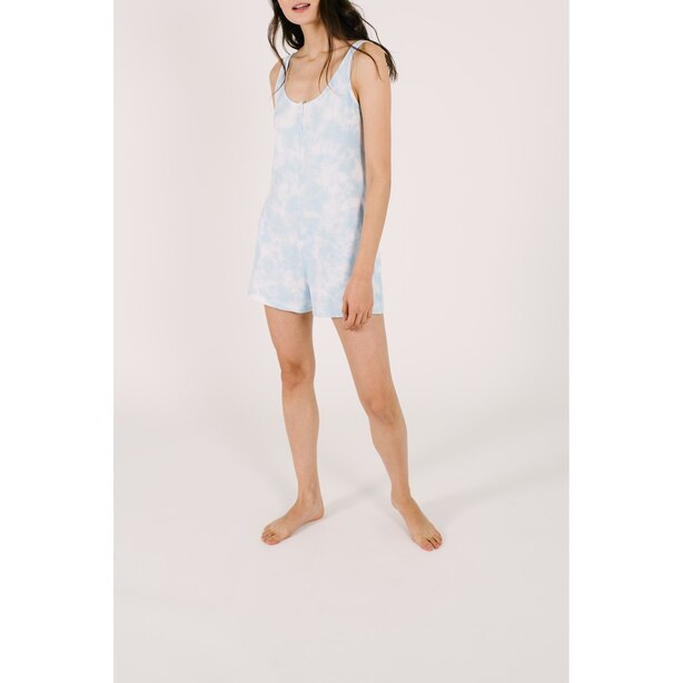 Smash and Tess Shorty Romper Sky Tie Dye L