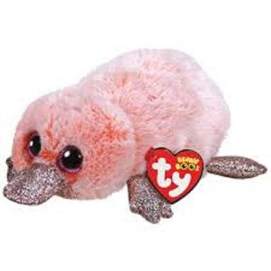 TY® Plush Animal Pink Platypus Wilma Regular
