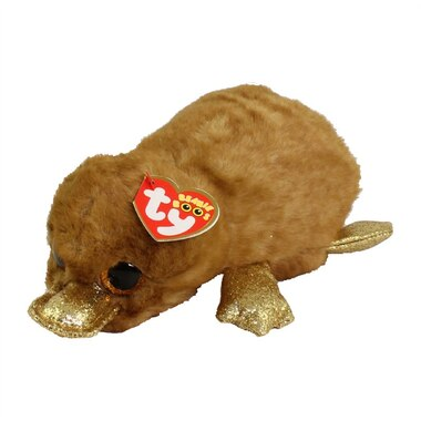 TY® Plush Animal Brown Platypus Perry Regular