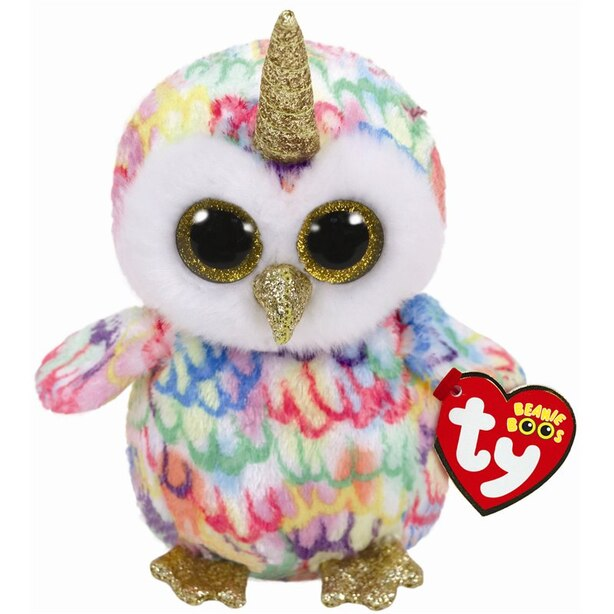 Ty® Plush Animal Enchanted Owl with Horn Regular 6''