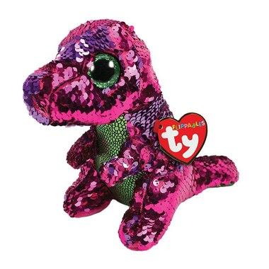 Ty® Flippables™ Magic Sequin Plush Animal Dinosaur Stompy Regular