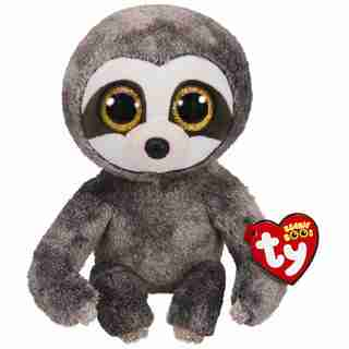 Ty® Plush Animal Dangler Sloth Grey Medium 6''