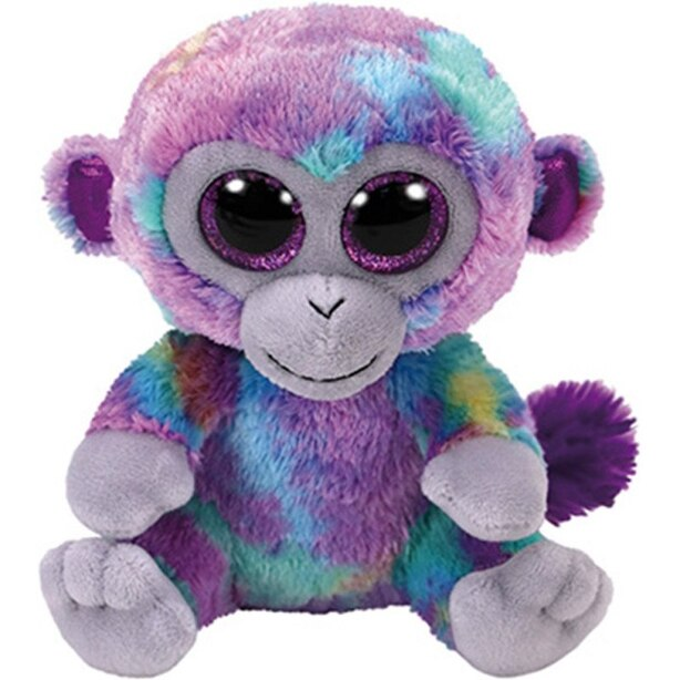 TY® Plush Animal Multi-Coloured Monkey Zuri Medium