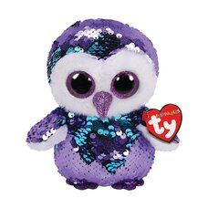 Ty® Flippables™ Magic Sequin Plush Animal Owl Moonlight Medium