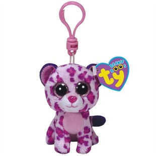 Beanie Boos Clip - Glamour the Pink Leopard