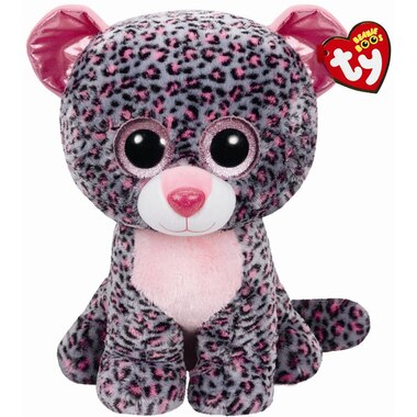 706ae3b76a5 Ty Tasha Pink and Grey Leopard Plush Large by Ty