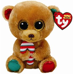 BELLA - brown bear w/ candy cane reg
