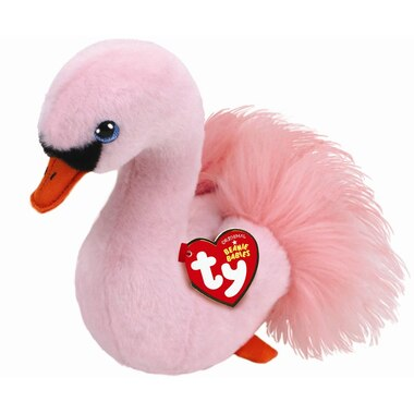 Ty® Plush Animal Odette Swan Pink Regular 6''