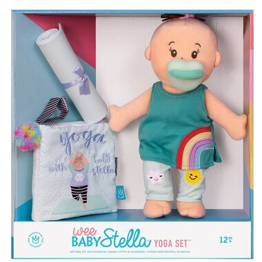 Baby Stella® Wee Baby Stella Yoga Doll and Book