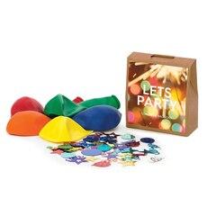 Étiquette-cadeau pour bouteille Bottleneck Mini™ — Let's Party avec confettis et ballons