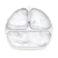 Bumkins Silicone Grip Dish, Marble