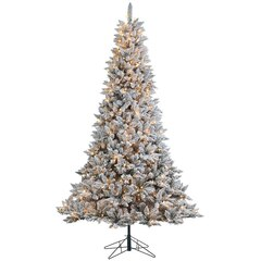Flocked Ridge Spruce Tree – 7.5'